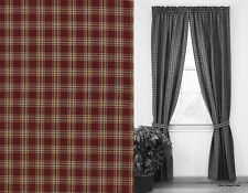 """Window Curtain Lined Panel Pair 84"""" L - Sturbridge in Wine by Park Designs"""