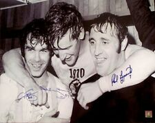 DEREK SANDERSON BOBBY ORR PHIL ESPOSITIO AUTO BOSTON BRUINS 16X20 PHOTO GNR COA