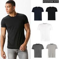 Kustom Kit Fashion Fit Short Sleeve Cotton Tee (KK507) - Crew Neck Top T-Shirt