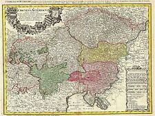 ART PRINT POSTER MAP OLD HOMANN HEIRS AUSTRIA BOHEMIA CZECH REPUBLIC NOFL0684