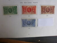 GREAT BRITAIN 1935 GEORGE V SILVER JUBILEE SET OF 4 USED STAMPS
