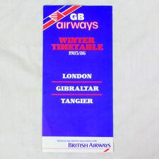 GB Airways Della compagnia aerea Timetable (tabella orari) Inverno