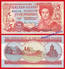 MALVINAS FALKLAND ISLANDS 5 Pounds libras 2005 Pick 17 SC / UNC