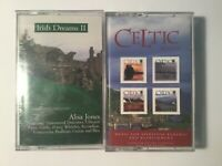 Irish Dreams II Celtic Music Cassette Lot of 2 Eden's Bridge Alisa Jones Ireland