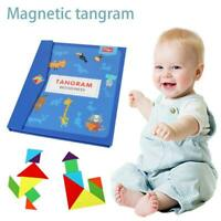 Magnetic Tangram Toy Wooden Gaming Board Children Educational Toys