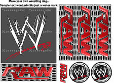 WWE RAW EDIBLE ICING CAKE TOPPER & SIDES - KIT MAKE YOUR OWN WRESTLING RING CAKE
