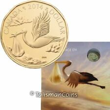 Canada 2014 Baby Born Uncirculated Mint Gift Set Special Edition $1 Stork Loonie