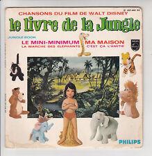 LE LIVRE DE LA JUNGLE Vinyl 45T ECOLIERS BONDY J-M DEFAYE Orchestre WALT DISNEY