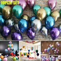 10pcs Glossy Metallic Pearl Latex Luftballons aufblasbare Geburtstagsfeier Dekor