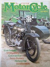 The Classic Motorcycle Magazine September 1984 Scott Sociable TT Flashback Banbu