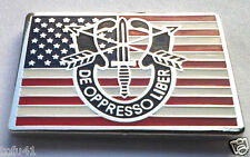 SPECIAL FORCES DE OPPRESSO LIBER USA Military Veteran Hat Pin P00563 EE