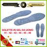 2 Semelles Massage en Gel Memory Foam de Chaussures Homme Plantaire 41 42 43 44