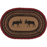 New Cabin Lodge Red Black MOOSE Jute Braided Table Doily Candle Place Mat