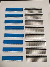 8x  Mâle  Femelle 19 Pin 2.54mm SIL Connecteur Connecteur PCB       E7h5d