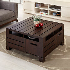 Furniture of America Crete Vintage Walnut Brown Accent Cocktail Coffee Table