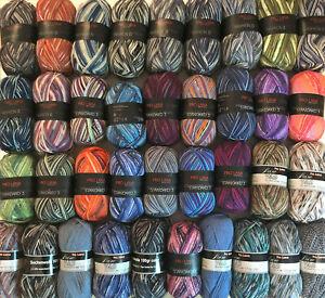 Pro Lana, 1-5 kg bunt gemischte Sockenwolle, Strumpfwolle, 100gr Knäule