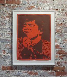Bob Stanley - James Brown -Original 1960s Lithograph