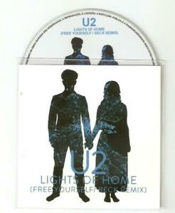"""U2 'LIGHTS OF HOME """"FREE YOURSELF BECK REMIX"""" NEW  BRAZILIAN OFFICIAL CD PROMO"""