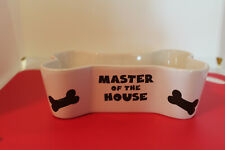 "Fido's Dog Bowl ""Master of the House""  Stoneware Food/Water Dish"