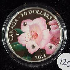 **2012** Rhododendron, RCM Proof Silver $20 Dollar Coin
