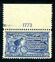 USAstamps Unused XF-Superb US 1902 Special Delivery Plate # Scott E6 OG MNH