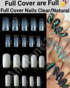 100/500Pcs Full Cover Nails Manicure Long Square False Tips Fake Nails -Jargod