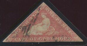 KAP DER GUTEN HOFFNUNG 1857 Kap-Dreieck Perkins, Bacon & Co. Druck 1 P mattbräun