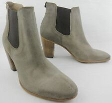 Alberto Fermani Women's Taupe Gray Suede Ankle Heel Boots sz. 39.5 US 9.5