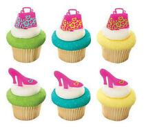 Purse Shoes Handbag Bachelorette Pink cupcake picks (24) favor cake topper 2 doz