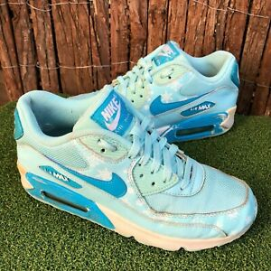 NIKE AIR MAX 90 PREM MESH GS FROZEN SNOWFLAKE BLUE SHOES US 6 Y UK 5.5 24CM
