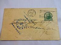 1930 NYC Hudson Terminal Station Post Card Shipping Customs Ephemera Glampstaff