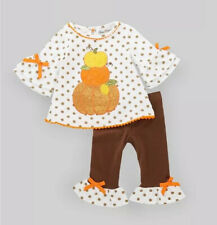 Rare Editions Toddler Girl Pumpkin Fall Tunic & Leggings Set Size 4T New