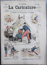 Albert ROBIDA Journal LA CARICATURE N°21 1880 Couv Couleur Journée ss Lieutenant