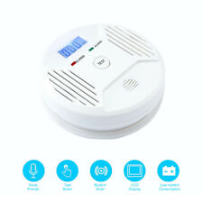 Smoke Alarm/LCD CO Carbon Monoxide Detector Poisoning Gas Warning Sensor Monitor