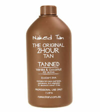 2 x Naked Tan Tanned Solution 1L - 10%Tan Solution - 2hr wash'n'wear Tanned