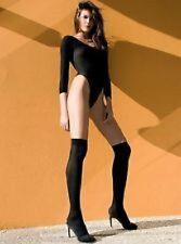 NEW KNEE HIGH SOCKS OPAQUE BLACK WHITE QUALITY HOSIERY COSTUME AUSSIE SELLER