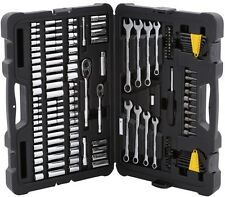 Mechanics Tool Set Ratchet Wrench Sockets Case Kit (145-Piece) Stanley Tools