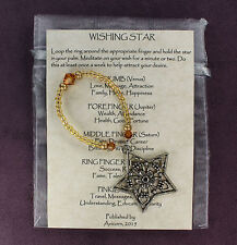 WISHING STAR Charm Amulet Talisman Attraction Magick Spell Pentacle GOLD TOPAZ