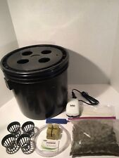 Complete Hydroponic System - 4 Site DWC Hydroponic Grow Kit - Bubble Bucket
