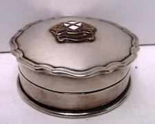 Old Silver / Silver Plated Box with Enamel Badge from SS Arcadian, RMSP