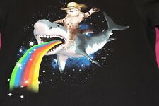 Goodie Two Sleeves Cat Riding Shark Graphic Tee