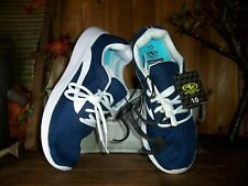 Athletic Works Ladies Athletic Shoes Sneakers Size 10 Blue White Memory Foam New