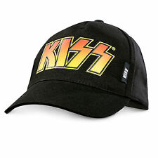 Kiss Classic Logo Mens Black Printed Cap Hat One Size New