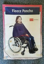 Simplantex Fleece Poncho Scooter Wheelchair User Warmth Protection Navy Red