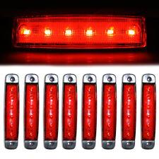 8x 12V Side Marker Signal Lights 6 LED Whaterproof Durable For Scania Daf Man