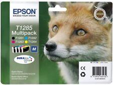Epson Durabrite T1285 Fox Genuine Multipack Ink Cartridges T1281,282,283,284