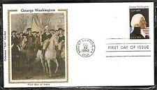 US SC # 1952 George Washington  FDC. Colorano Silk Cachet.