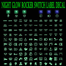 Rocker Switch Label Decal Circuit Panel Sticker Car Marine Boat Truck Instrument