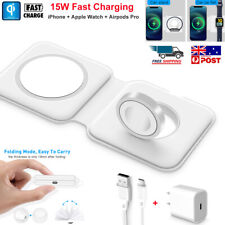 Foldable 15w MagSafe Magnetic Wireless Charger Pad for iPhone 12 Pro Apple Watch