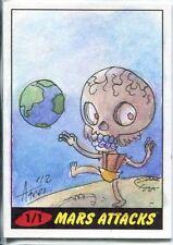 Mars Attacks Heritage Sketch Card By Agnes Garbowska